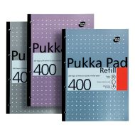 Pukka A4 RefillPad White400Pages REF400 (Pack 5)