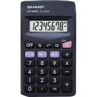 Sharp EL233SBBK Pocket Calculator (Pack 1)