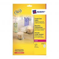 Avery Crystal Clear Labels L7783-25 (Pack 1)
