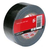 5 Star Roll50mmx50mBlkClothTape PCT50/B (Pack 1)