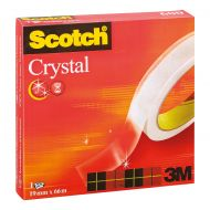 Scotch Crystal Tape 19mm x 33m (Pack 1)