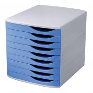 5 Star Elite Desk Drawer 9 Drw Gry/Blue (Pack 1)