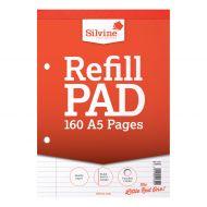 Silvine HB RefillPad A5 Ruled Red A5RPFM (Pack 6)