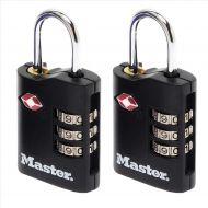 Masterlock combi padlock ABS TSA 2x30mm (Pack 1)