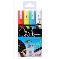 Uni Chalk Mkr Med BlltTip PWE5M Asst Pk4 (Pack 1)