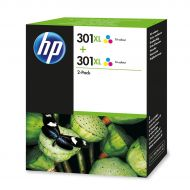 HP 301XL HY Tricol Ink Cart Pk2 D8J46AE  (Pack 1)