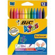 Bic Kids Plastidecor Crayons 945764 Pk12 (Pack 1)