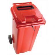 **Wheelie Bin 120L Locked Red (Pack 1)