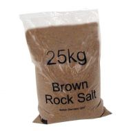 **Brown Rock Salt Bags 40x25Kg 383578 (Pack 1)