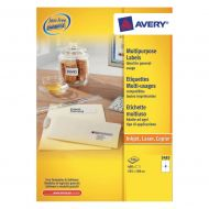 Avery FSC M/purp Label 105x148Wht  3483 (Pack 1)