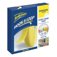 Sellotape Hook Strip 25mmx12m Removable  (Pack 1)