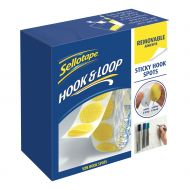 Sellotape Hook Spots 125 Removable  (Pack 1)
