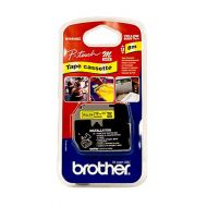 )Brother Blk/Yel 12mm Tape MK631BZ (Pack 1)