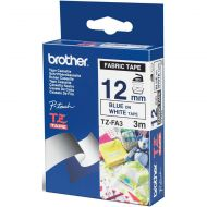 )Brother 12mm FabricTape BluOnWht TZEFA3 (Pack 1)