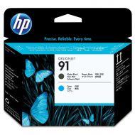 )HP No91 Printhead MatteBlk/ Cyan C9460A (Pack 1)