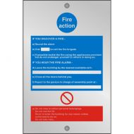 )Acryl Sgn Fire Action 150x200 CACM011 (Pack 1)