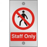 )Acryl Sgn Staff Only 120x200 CACP (Pack 1)