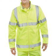 )Soft Shell Jkt Sat Yellow XL EN20471  (Pack 1)