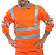 )Sweatshirt Orange Hi-Vis S (Pack 1)
