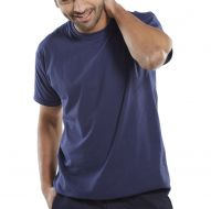 )T-Shirt 150gsm Navy 2XL (Pack 1)