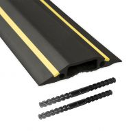 D-Line Floor Cable Cvr Blk&Ylw 83mmx1.8m (Pack 1)