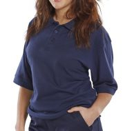 )Click Premium Polo Shirt Navy L  (Pack 1)