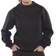 )Cl Premium P/C Sweatshirt Blk L  (Pack 1)