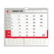 5 Star 2021 A3 Wall Calendar (Pack 1)