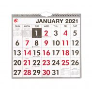 5 Star 2021 Wall Calendar W/Bound MTV (Pack 1)