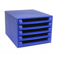 Exacompta Forever 5 Drawer Set Rcyc Blu (Pack 1)