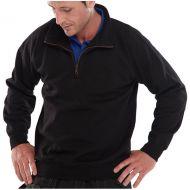 )Quarter Zip P/C Sweatshirt Black 3XL (Pack 1)