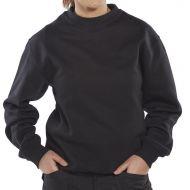 )Cl Premium P/C Sweatshirt Blk S  (Pack 1)