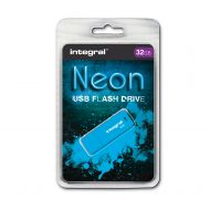 Integral Neon 2.0 Flash Drive 32GB Blue (Pack 1)
