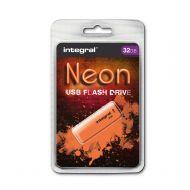 Integral Neon 2.0 FlashDrive 32GB Orange (Pack 1)