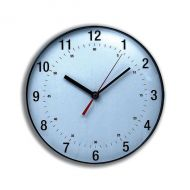 5 Star Fcl Classic Wall Clock White/Blk (Pack 1)