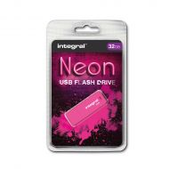 Integral Neon 2.0 Flash Drive 32GB Pink (Pack 1)