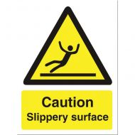 Caution Slipry Surfce 150x200mm WO134SAV (Pack 1)