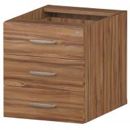 &Trexus 3 Drawer Fixed Pedestal Wnt (Pack 1)