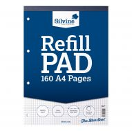 Silvine A4 Rfl Pad 5mm Sq160Pg A4RPX (Pack 6)