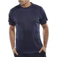 )B-Cool T-Shirt Navy Large (Pack 1)