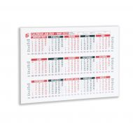 5 Star 2021 A4 Wall/Desk Calendar (Pack 1)