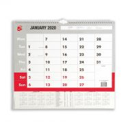5 Star 2020 A3 Wall Calendar (Pack 1)