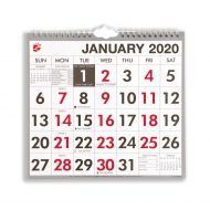5 Star 2020 Wall Calendar W/Bound MTV (Pack 1)