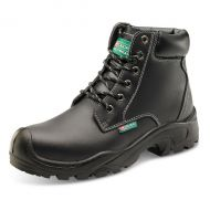 )6 Eyelet Pur Boot S3 Blk 40/6.5  (Pack 1)
