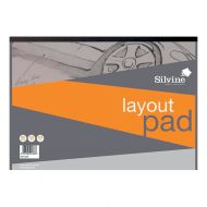 Silvine Layout Pad A3 80lvs 50gsm  (Pack 1)