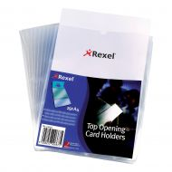 Rexel Card Holder O/S/Edge A4 12092 Pk25 (Pack 1)