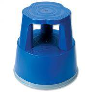 5 Star Facilities Plastic Step Stool BLU (Pack 1)