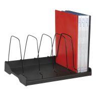Adjustable Book Rack Wire div Black (Pack 1)