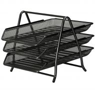 5 Star Office Mesh 3Tier Letter Black (Pack 1)