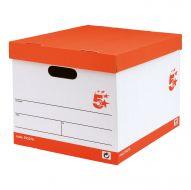 5 Star FSC Storage Box Oyster White (Pack 10)